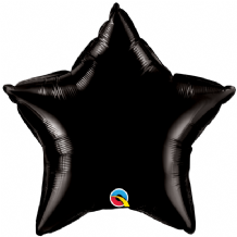 "Black Mini Foil Balloon (9"" Star Air-Fill) 1pc"